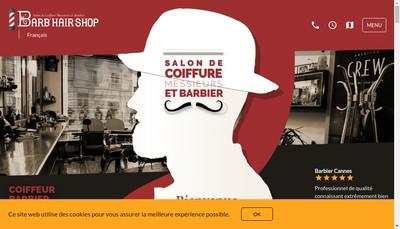 Site internet de Barb'Hair Shop