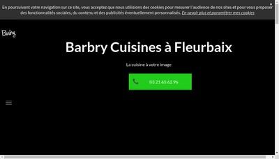 Site internet de Cuisines Barbry