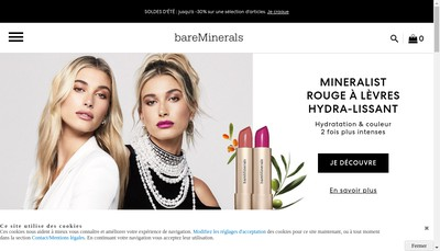 Site internet de Bare Escentuals France