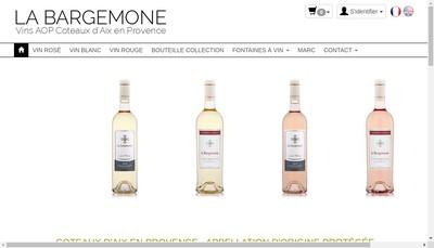 Site internet de Cave de la Bargemone