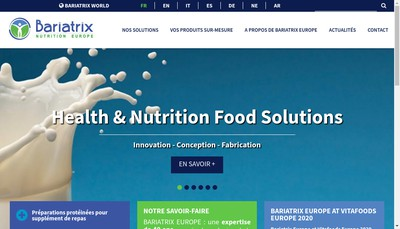 Site internet de Bariatrix Europe Inc