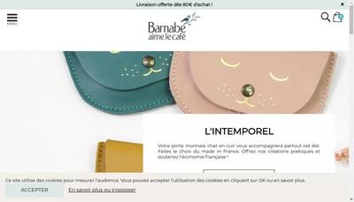 Site internet de Barnabe Aime le Cafe