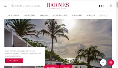 Site internet de Barnes International Rentals