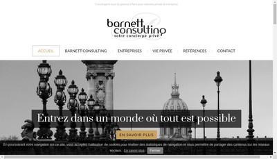 Site internet de Barnett Consulting