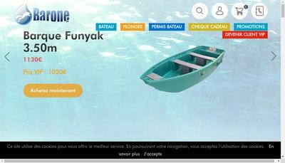 Site internet de SARL Barone