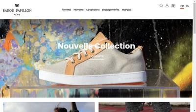 Site internet de Barons Papillom Paris