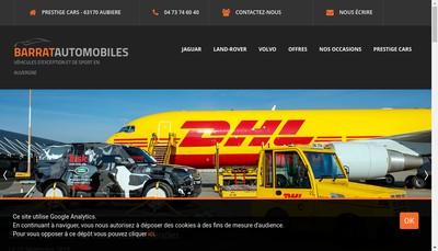 Site internet de Prestige Cars