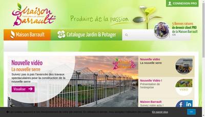 Site internet de Barrault Horticulture