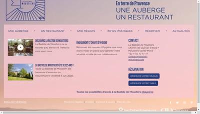 Site internet de La Bastide de Moustiers