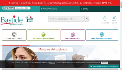 Site internet de La Bastide le Confort Medical