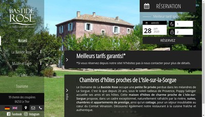 Site internet de La Bastide Rose
