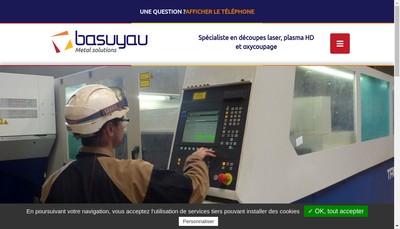 Site internet de Basuyau Metal Solutions
