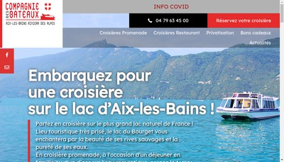 Site internet de Bateau du Lac du Bourget & du Haut-Rhone