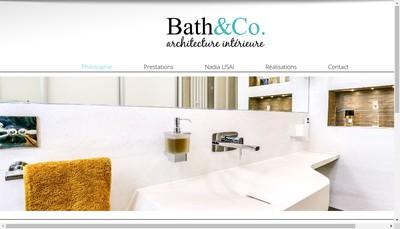 Site internet de Bath&Co Interiors