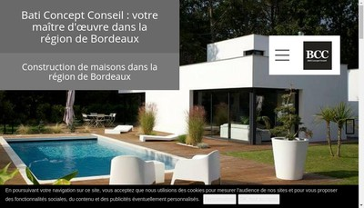 Site internet de Bati Concept Conseil