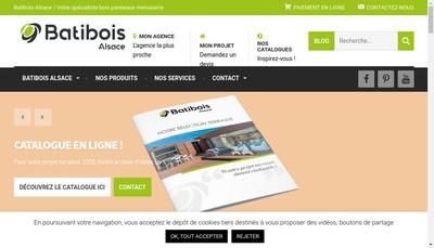 Site internet de Batibois Alsace