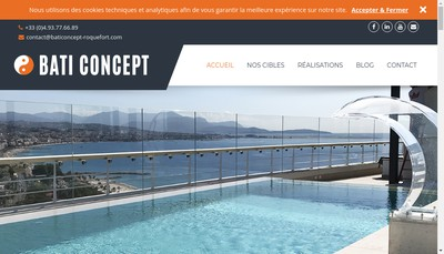 Site internet de SARL Bati Concept