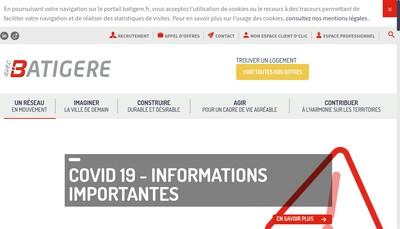 Site internet de Batigere Groupe