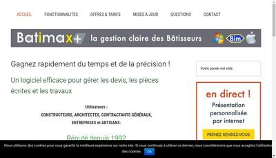 Site internet de BATIMAX