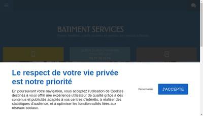 Site internet de Batiment Services
