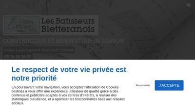 Site internet de Les Batisseurs Bletteranois