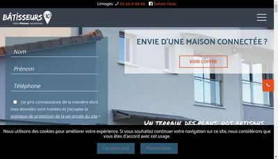 Site internet de Les Batisseurs d'Ici