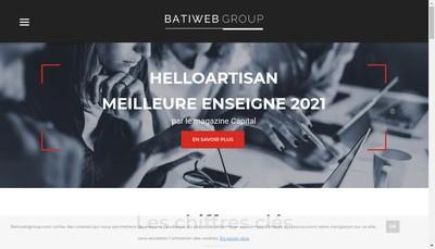 Site internet de Batiweb Helloartisan E-Travaux Easy Devis Habitat Trade Active Prospects Bati-Devis