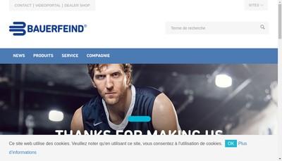 Site internet de SARL Bauerfeind France