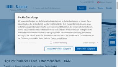 Site internet de Baumer