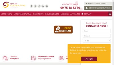 Site internet de Baya Consulting