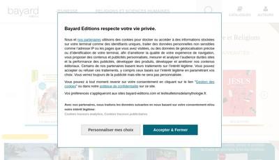Site internet de Bayard Editions