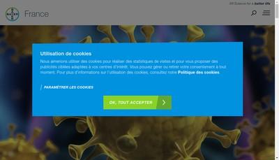 Site internet de Bayer Healthcare SAS