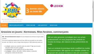 Site internet de Bernard Bimbeloterie