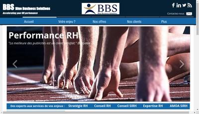 Site internet de Bbs - Blue Business Solutions