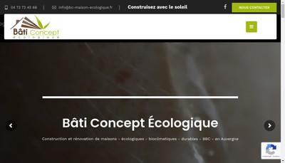 Site internet de Bati Concept Ecologique