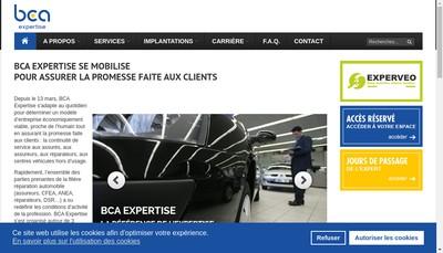 Site internet de Bca Expertise SAS