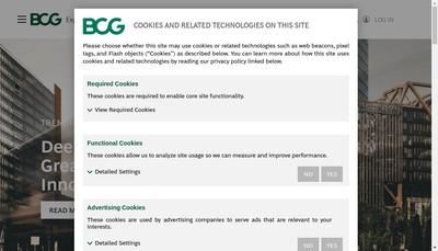 Site internet de BCG