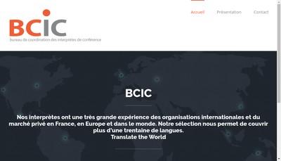 Site internet de Bureau de Coordination des Interpretes de Conferences - Bcic