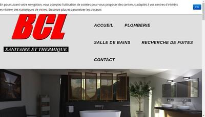Site internet de Bcl Sanitaire et Thermique