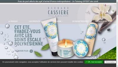 Site internet de Societe Francaise de Cosmetiques