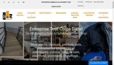 Site internet de B & D Concept