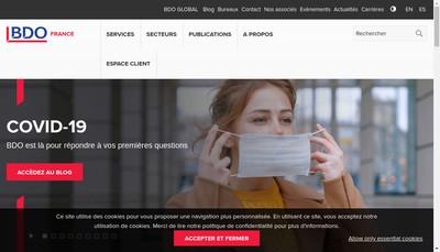 Site internet de Bdo Paris Audit & Advisory
