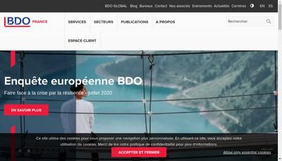 Site internet de Bdo Nantes
