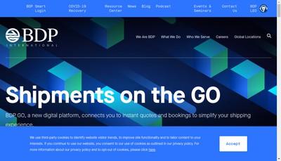 Site internet de Bdp International