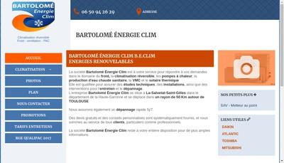 Site internet de Bartolome Energie Clim