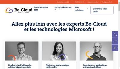 Site internet de Be Cloud