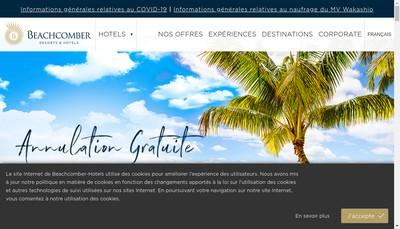 Site internet de Beachcomber Tours