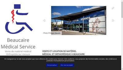Site internet de Beaucaire Medical Service
