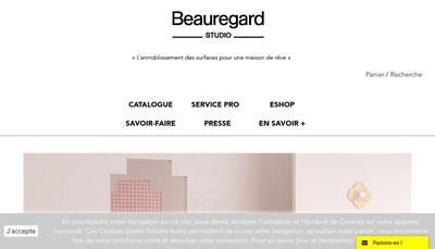 Site internet de Beauregard Studio