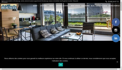 Site internet de Beausite Immobilier